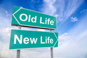 51027759 - new life old life road sign on sky background, business concept